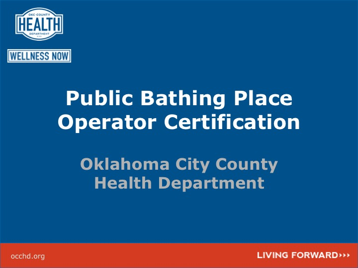 OKC-County Health Department :: Certified Pool/Spa Operator